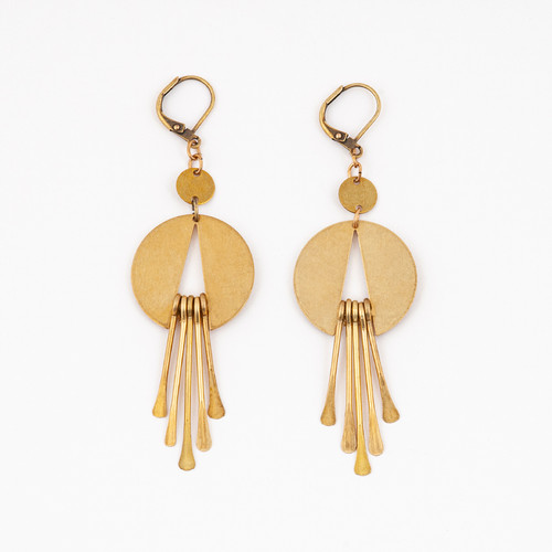 Cut Out Fringe Earrings