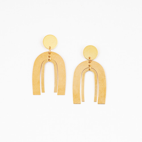 Double Arch Post Earrings