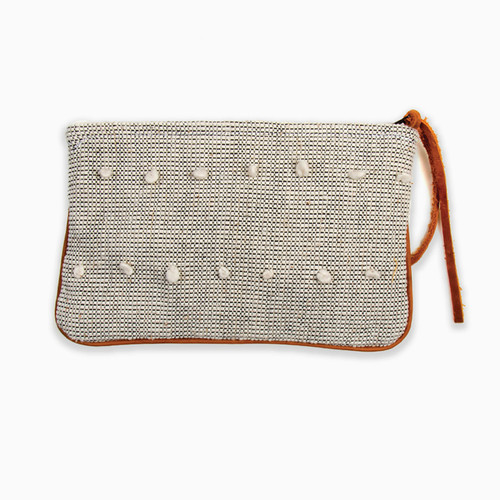 Natural Textured Clutch