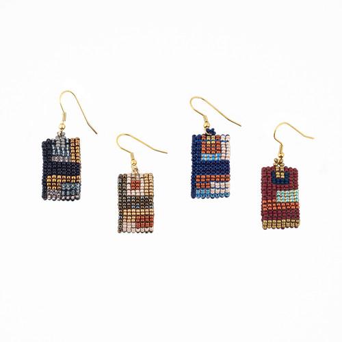 Cuadras Loop Beaded Earrings