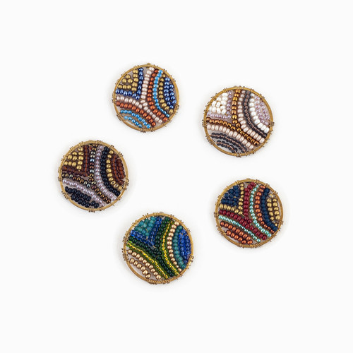 Abstract Circle Post Earrings