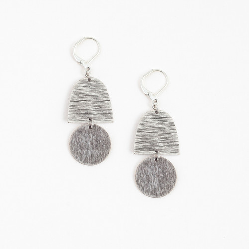 Brushed Silver Chime Earrings