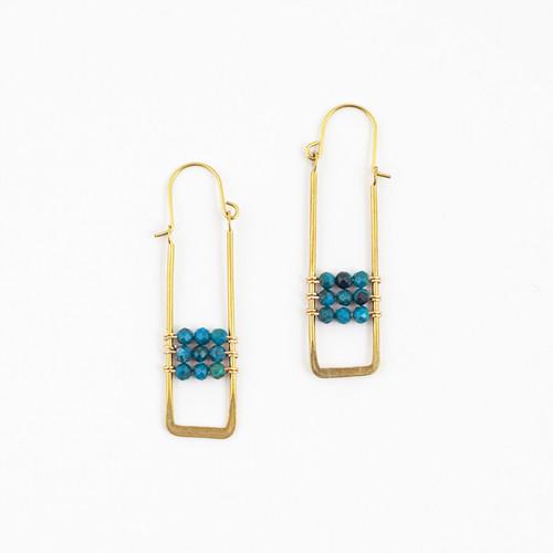 Framed Chrysocolla Earrings