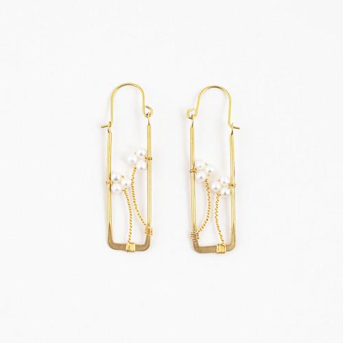 Framed Pearl Earrings