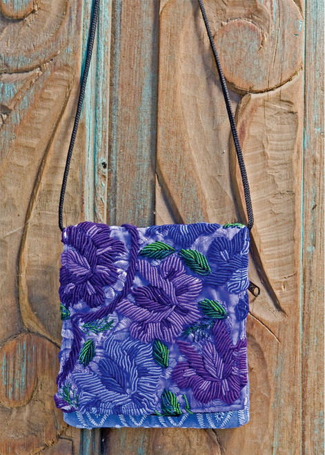 Embroidered Shoulder Pouch