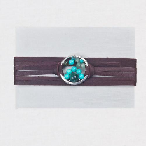 Deerskin Stone Bracelet