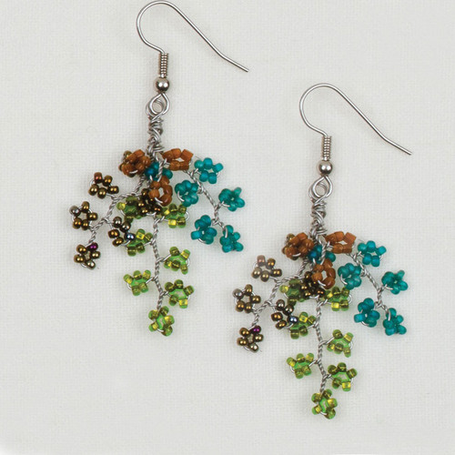 Wire Beaded Earrings