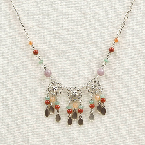 Filigree and Stone Necklace