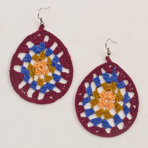Crochet Afghan Earrings