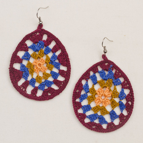 Crochet Afghan Earrings