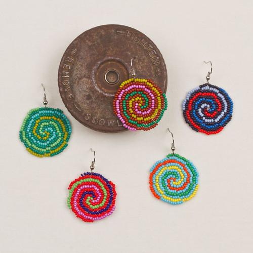 Sandy Circle Earrings Lg.
