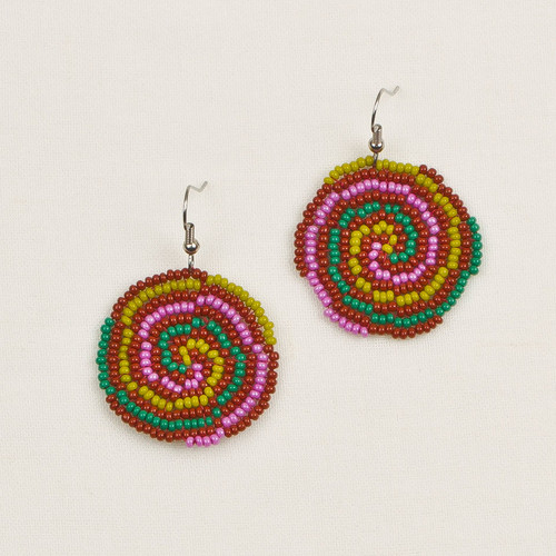 Sandy Circle Earrings Lg.