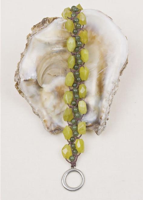 Jade Toggle Clasp Bracelet
