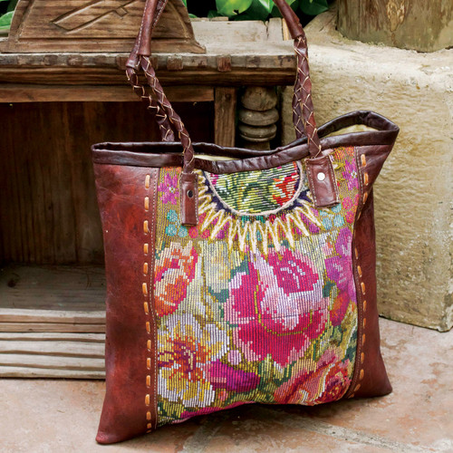 Huipile & Leather Tote
