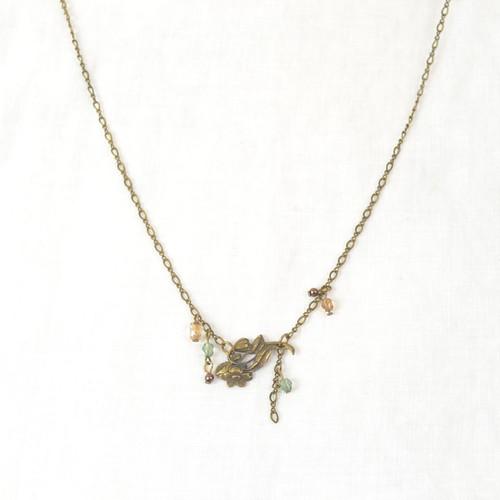 Simple Flower Bronze Necklace