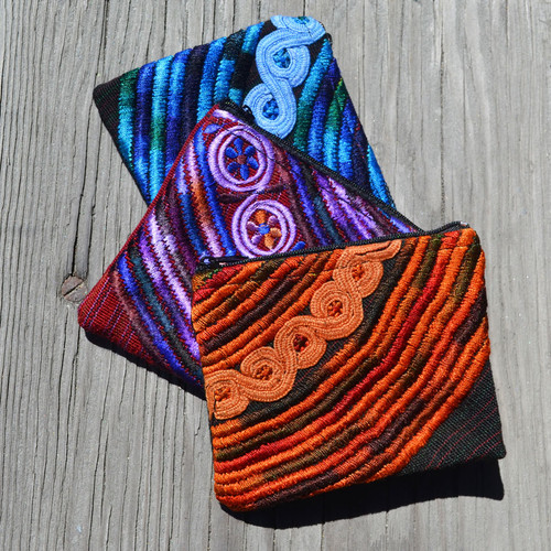 Recycled Huipile Change Purses