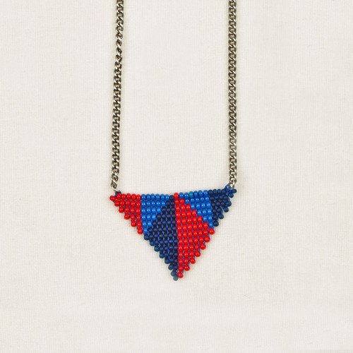 Triangles in Triangle Pendant Necklace