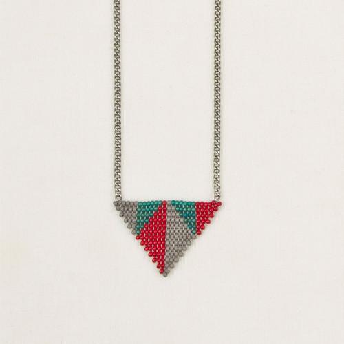 Triangles in Triangle Pendant Necklace