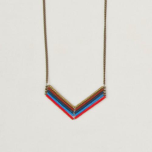 Short Chevron Necklace