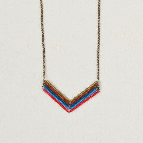 Short Chevron Necklace
