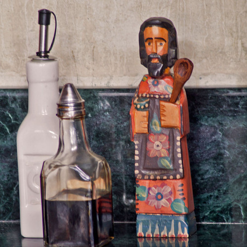 Medium Wooden San Pasqual Kitchen Saint