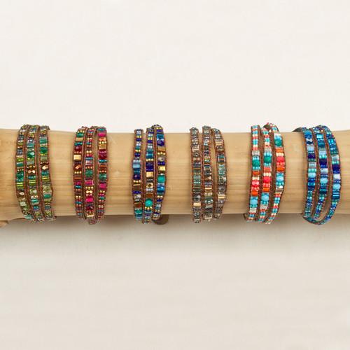 Miyuke Triple Wrap Leather Bracelet