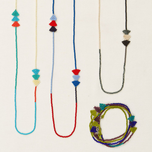 Beaded Arrow Strand Necklace