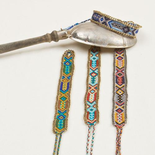 Friendship Bracelet with Chain Edge