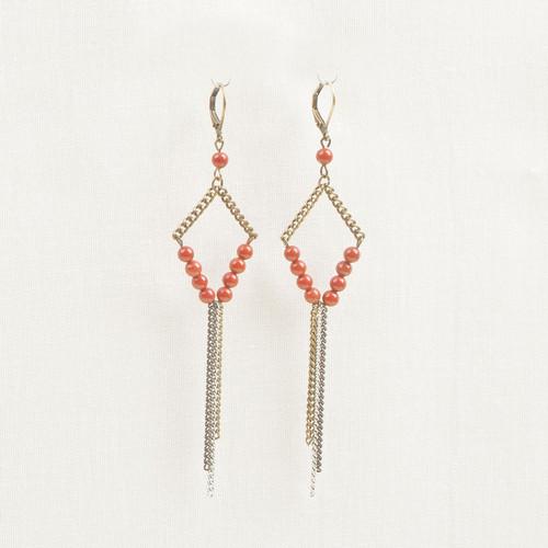 Red jasper earring