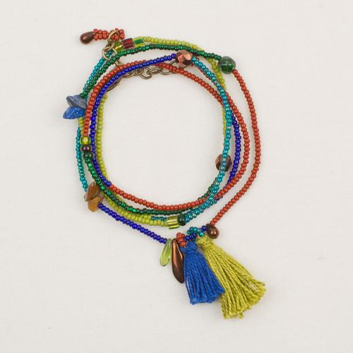 Tassel Strand Wrap Necklace