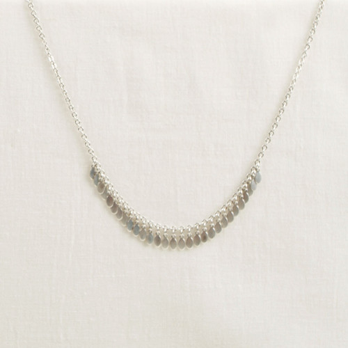 Tiny Oval Dangle Strand Necklace