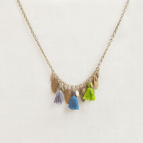 Tassel & Metal Fringe Necklace