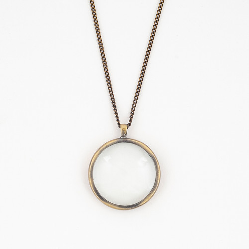 Bronze Monocle Necklace