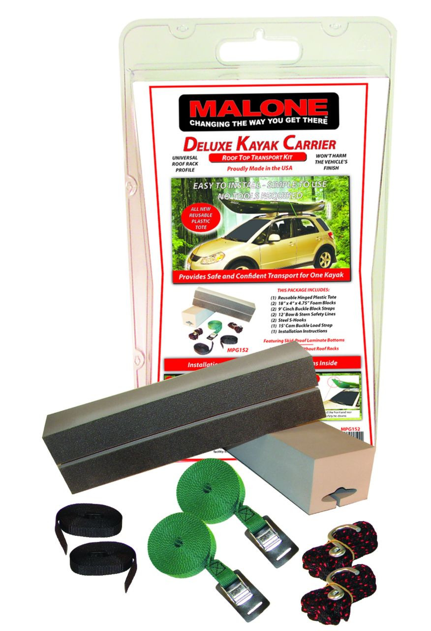 Malone Deluxe Kayak Carrier Kit