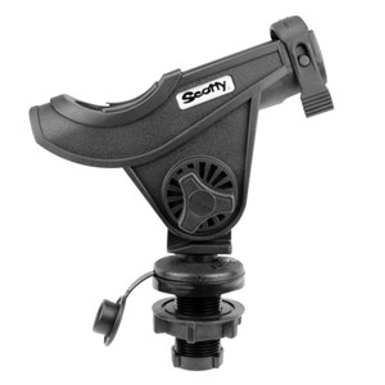 Scotty Bait Caster with Compact Threaded Deck Mount