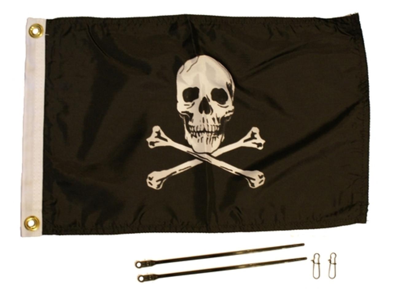 Jolly Roger Flag Kit, 12'' x 18''