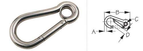 Snap Hook With Key Lock 2 3/8