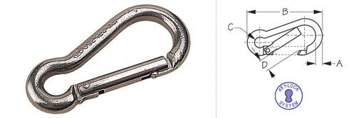 Snap Hook With Key Lock 3 1/4