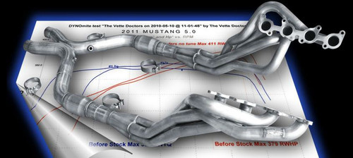"""2011+ Mustang 5.0 American Racing Header 1-7/8"""" x 3"""" with Catted X-Pipe"""