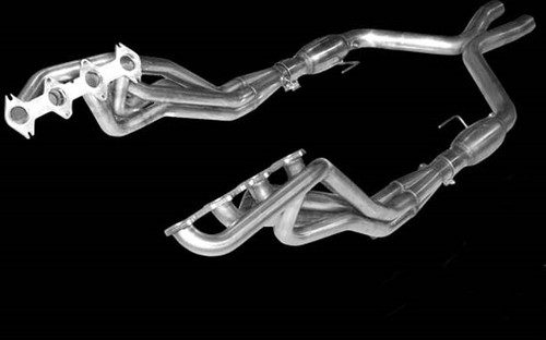 """2005-2010 Mustang GT American Racing Headers 1 3/4"""" x 2 1/2"""" with Catted X-pipe"""