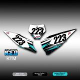 Iced Number Plates KTM