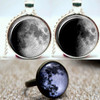 Moon Pendants and Ring Set