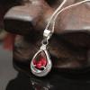 Sterling Silver Blood Droplet Pendant