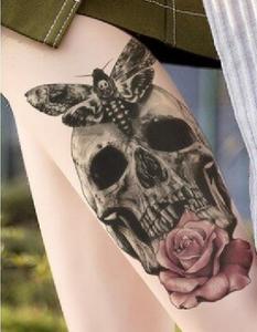Changeling Moth Skull Temporary Tattoo