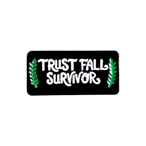 Trust Fall Survivor Pin