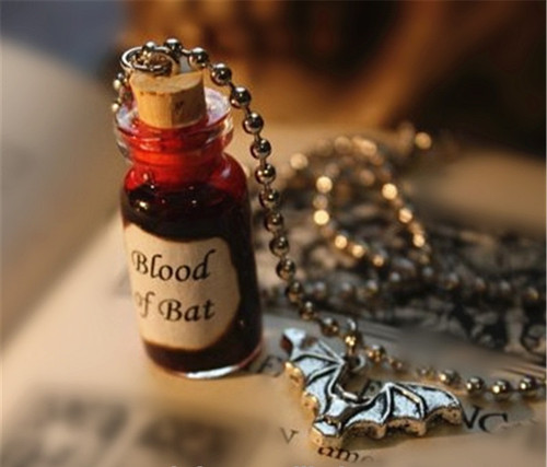 Blood of Bat bottle necklace