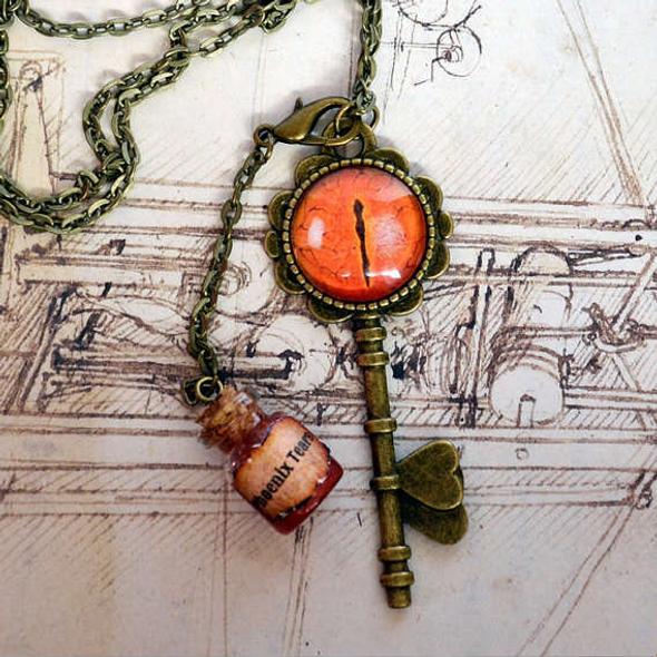 Phoenix Key and Tears Pendant