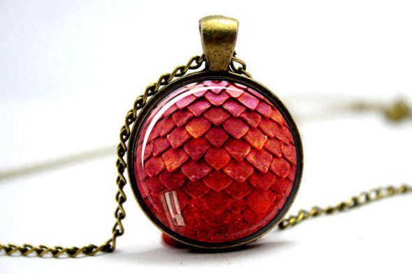 Red Dragon Scale Pendant