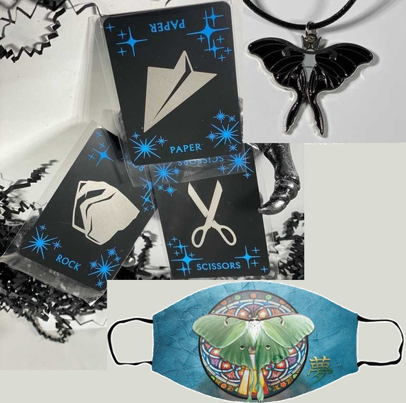 Changeling Bundle (metal cards, mask, pendant)