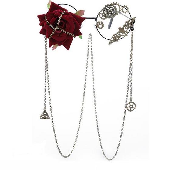 Chained Rose Bat Glasses